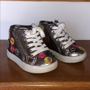 Steve Madden Kids Zipper Hi-Top Sneakers - Size 9
